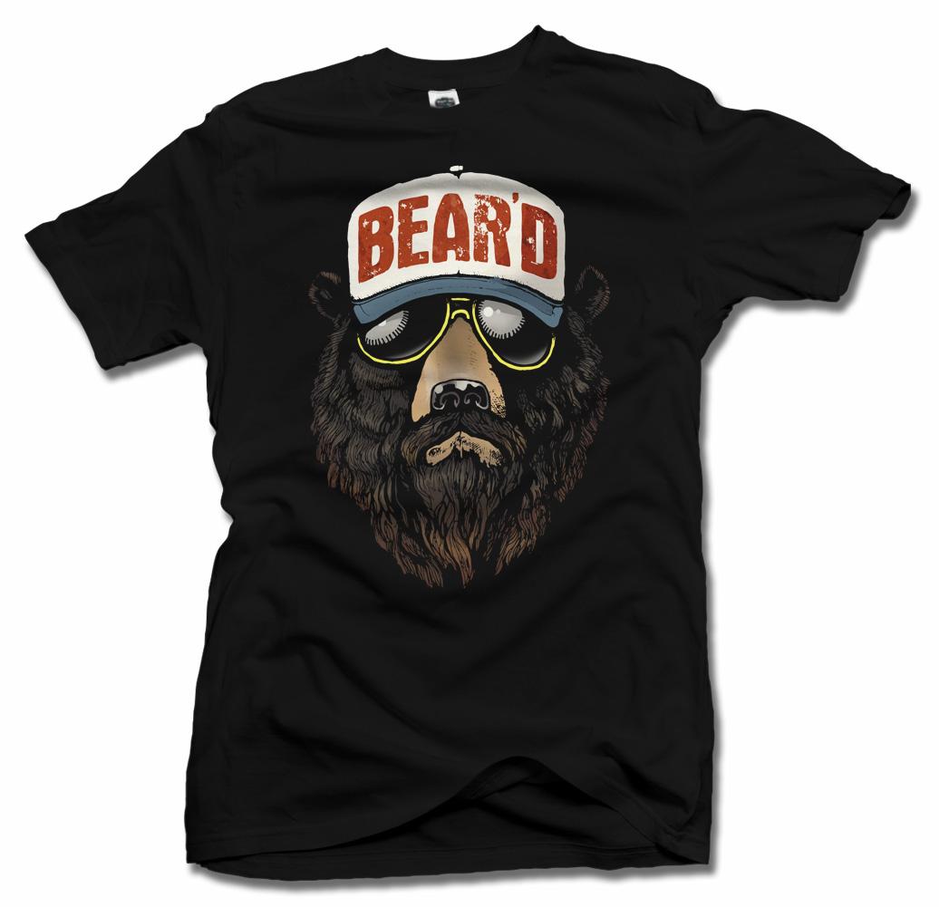 BEAR'D COLORIZED COOL BEARD T-SHIRT Model