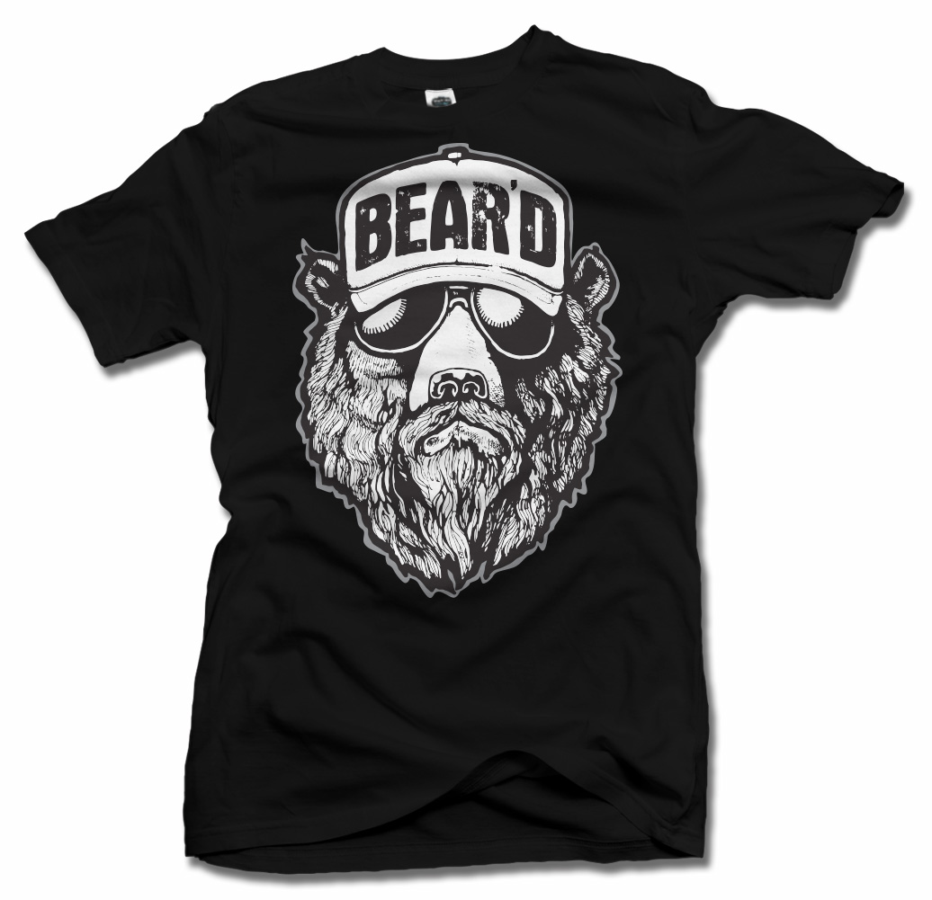 BEAR'D COOL BEARD T-SHIRT Model