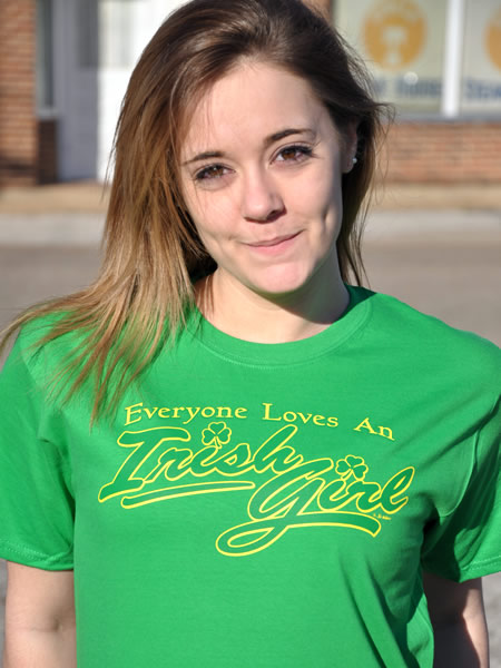 EVERYONE LOVES AN IRISH GIRL IRISH T-SHIRT Model