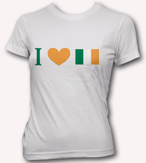 I HEART IRISH FLAG Model