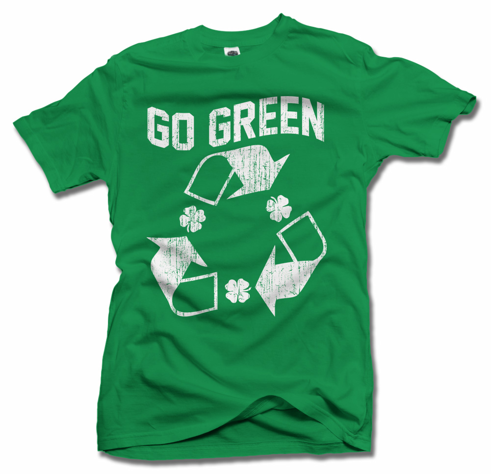 GO GREEN IRISH T-SHIRT Model
