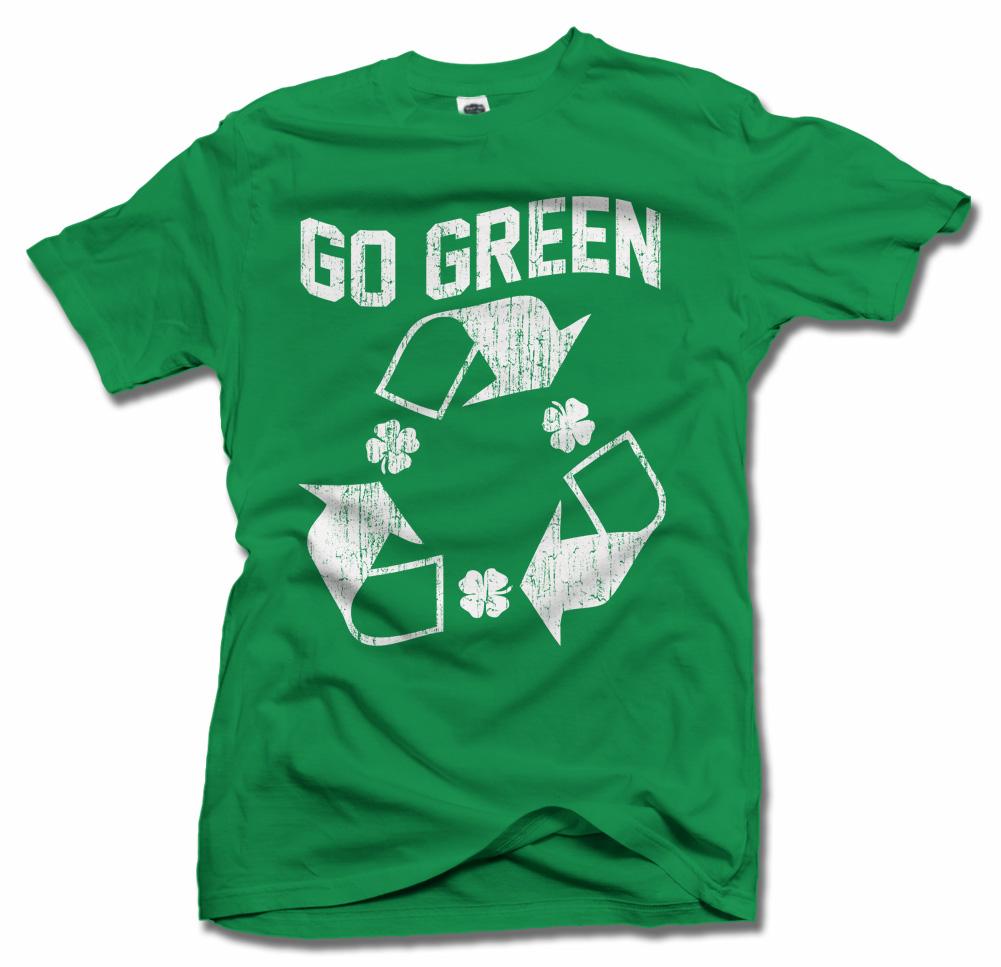 GO GREEN IRISH T-SHIRT Model