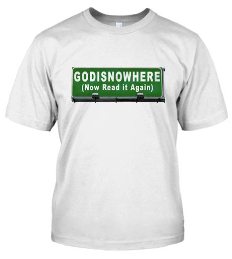 GODISNOWHERE (NOW READ IT AGAIN) STREET SIGN Model