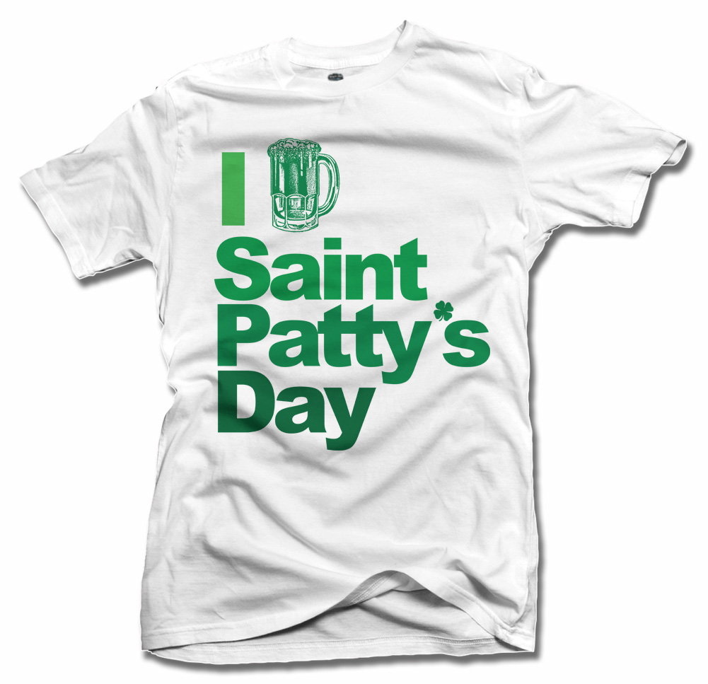 I BEER SAINT PATTY'S DAY IRISH T-SHIRT Model