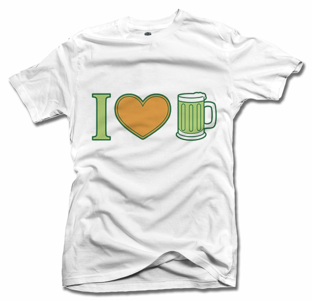 I HEART BEER IRISH T-SHIRT 2 Model