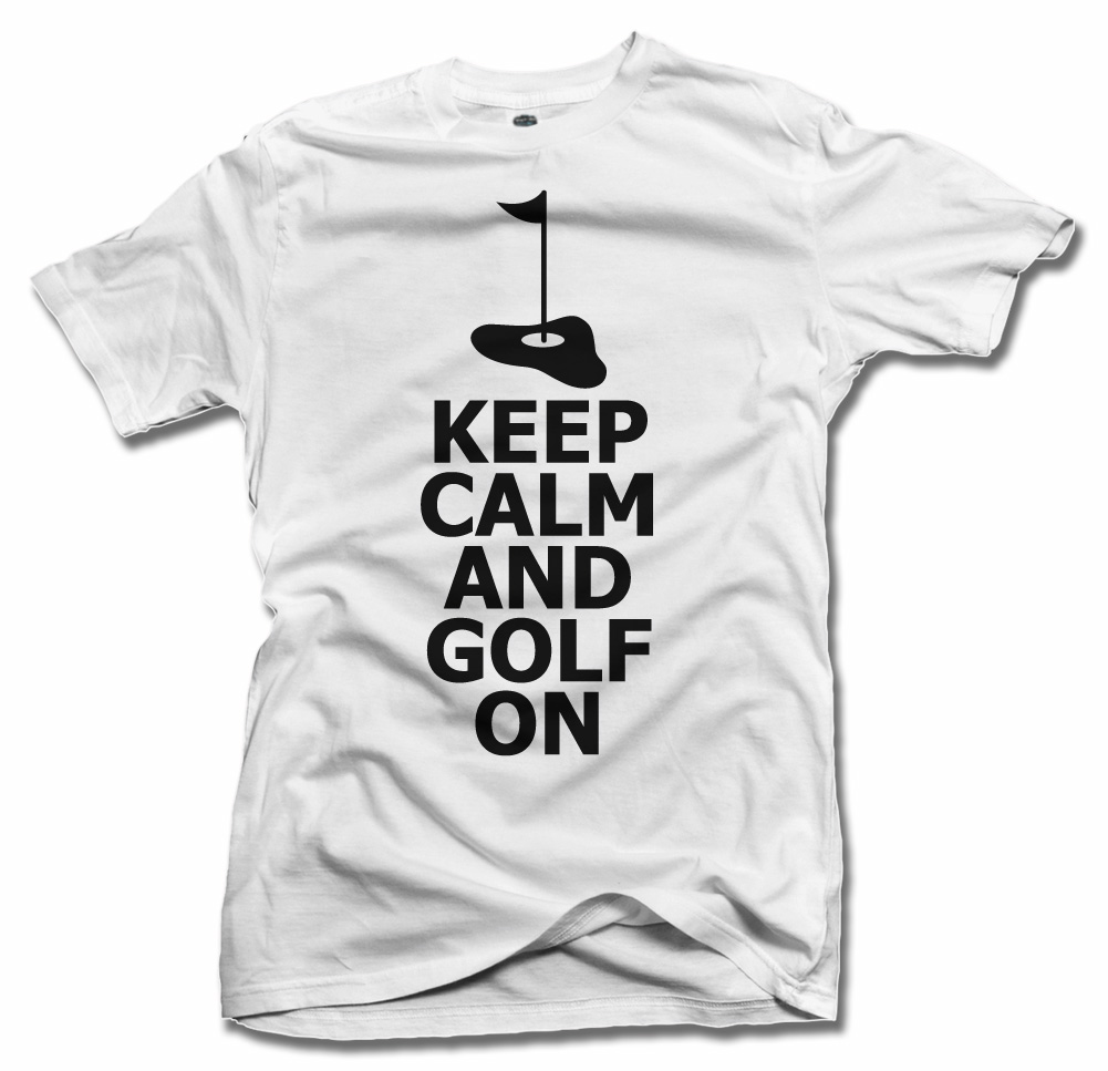 KEEP CALM AND GOLF ON Model