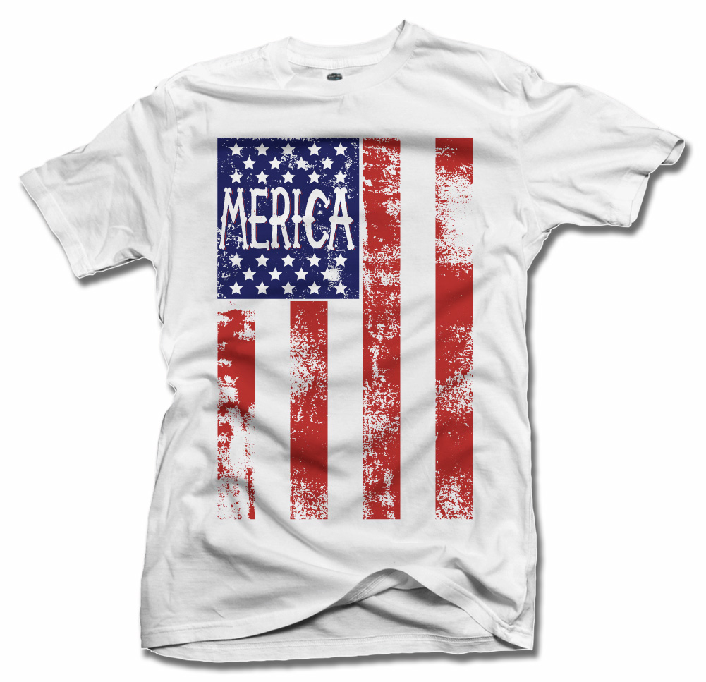 MERICA FLAG DISTRESSED Model