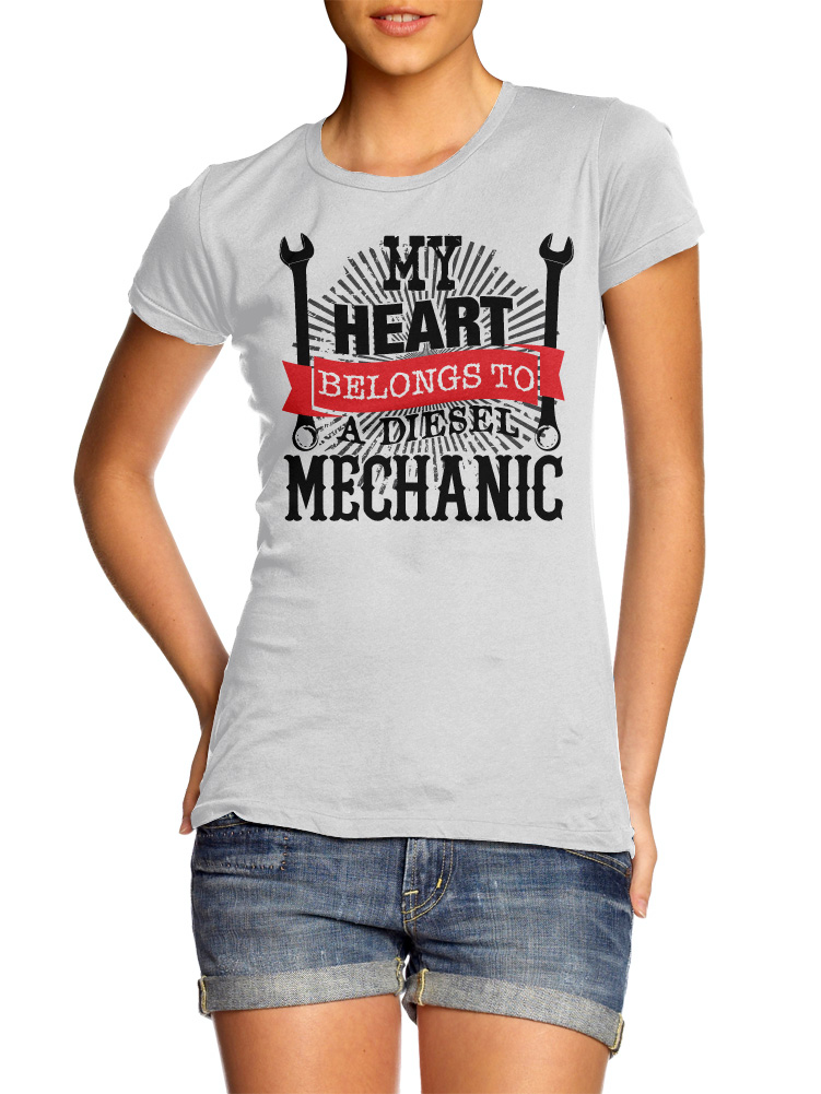 MY HEART BELONGS TO A DIESEL MECHANIC ON LIGHTS Model