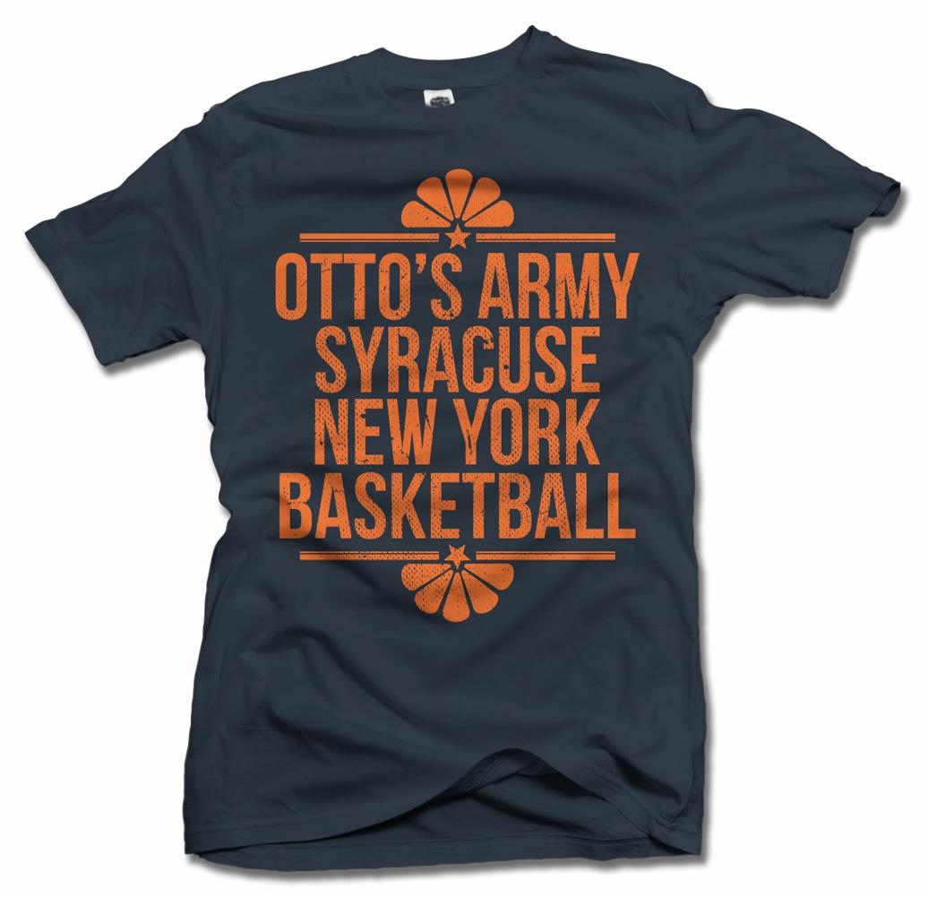 OTTO'S ARMY SYRACUSE NEW YORK BASKETBALL T-SHIRT Model