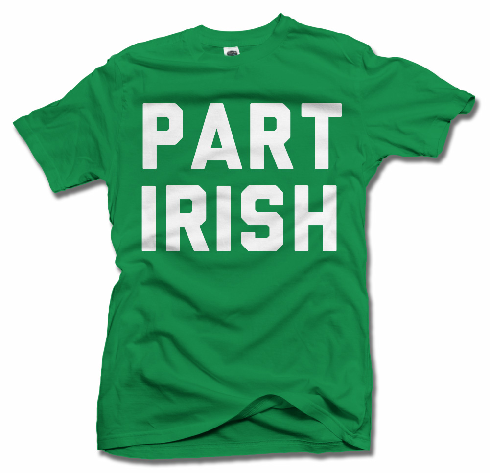 PART IRISH ST. PATRICK'S DAY T-SHIRT Model