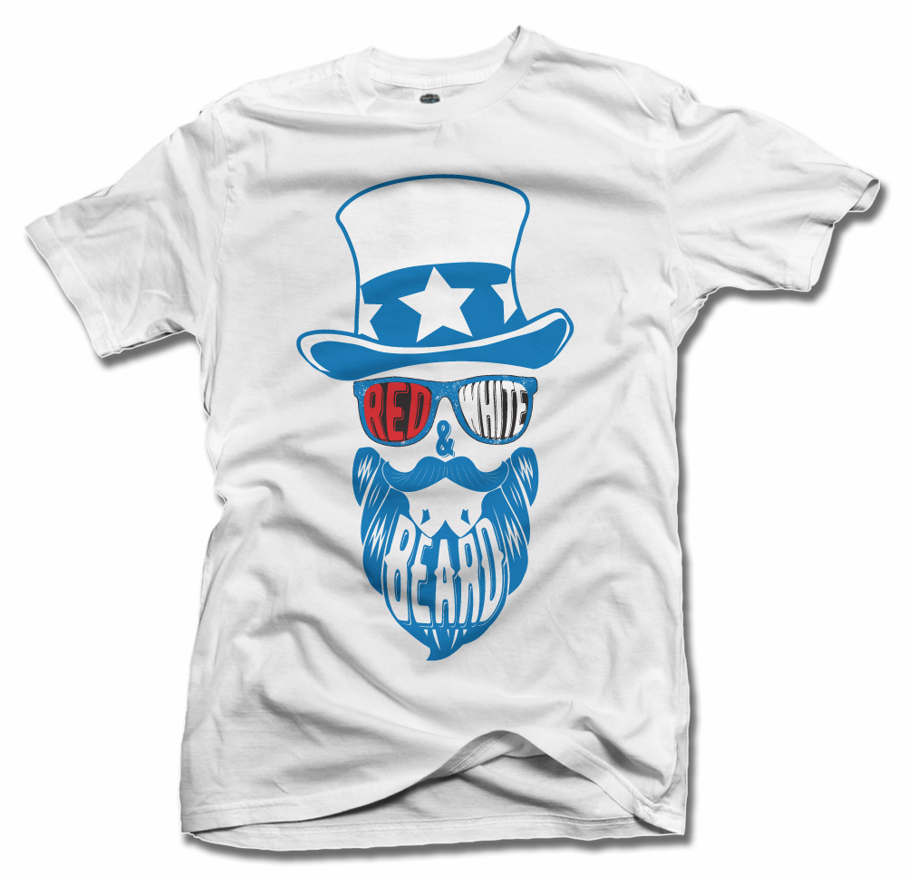 RED WHITE AND BEARD Model