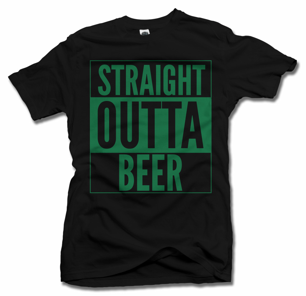STRAIGHT OUTTA BEER ST. PATRICK'S DAY T-SHIRT Model