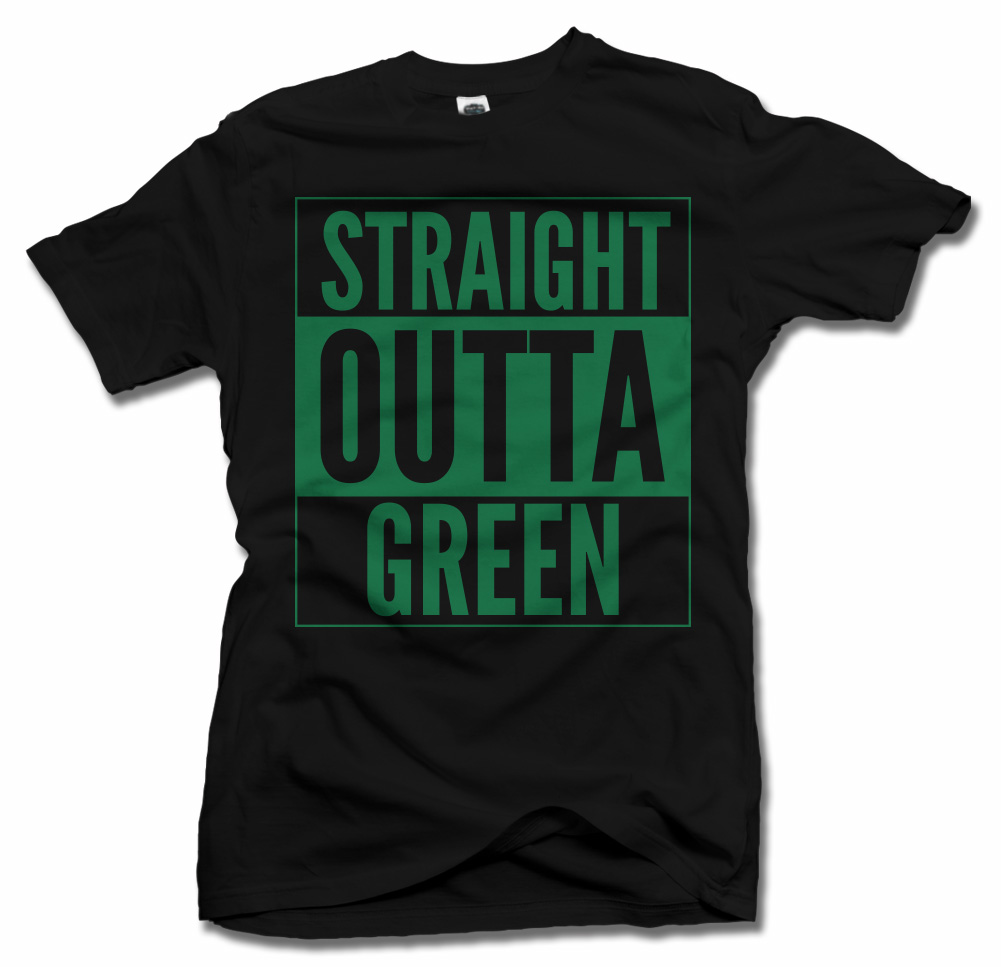 STRAIGHT OUTTA GREEN ST. PATRICK'S DAY T-SHIRT Model