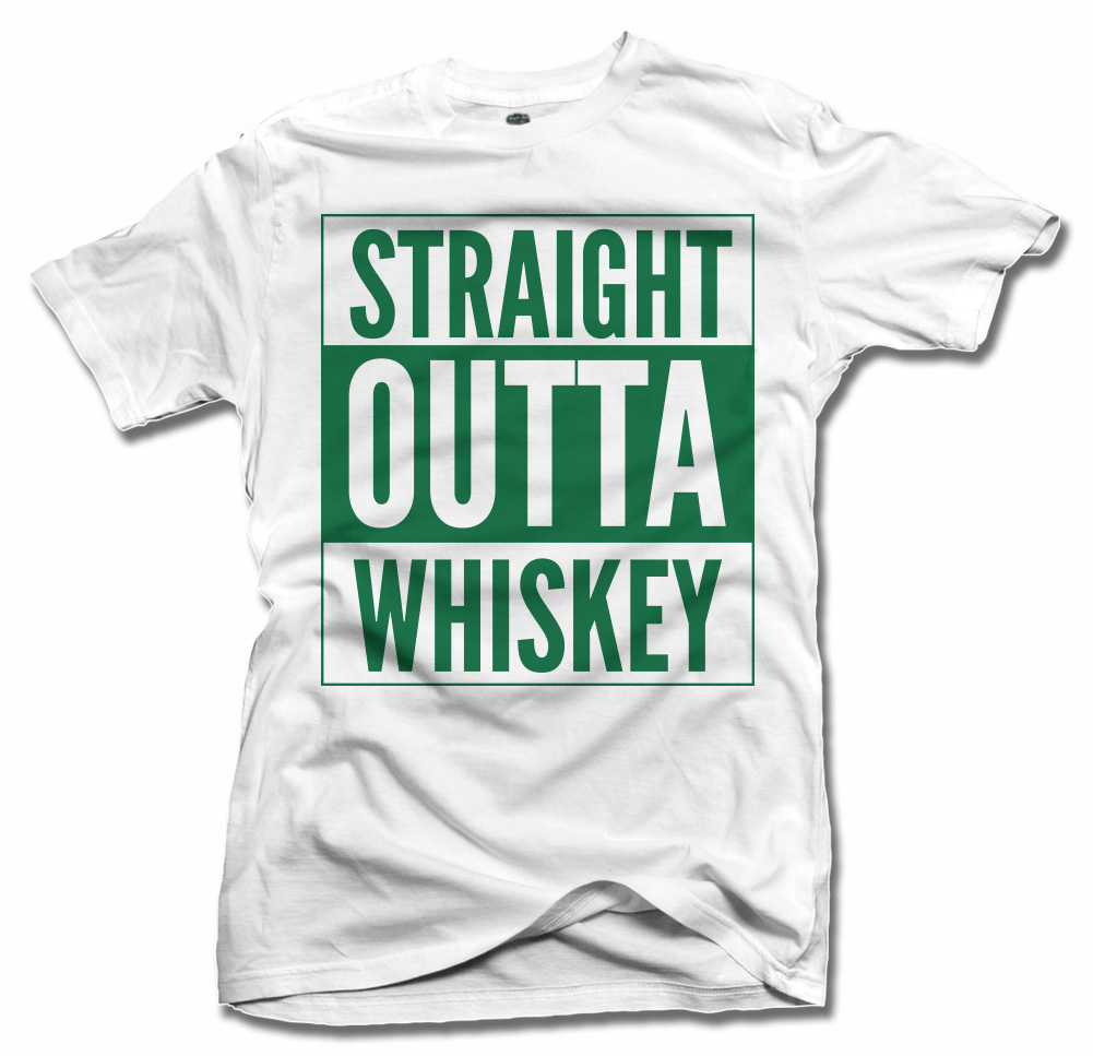 STRAIGHT OUTTA WHISKEY IRISH T-SHIRT Model