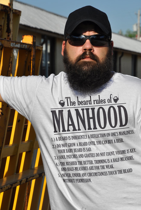 THE BEARD RULES OF MANHOOD Model