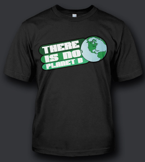 THERE IS NO PLANET B RECYCLE T-SHIRT Model