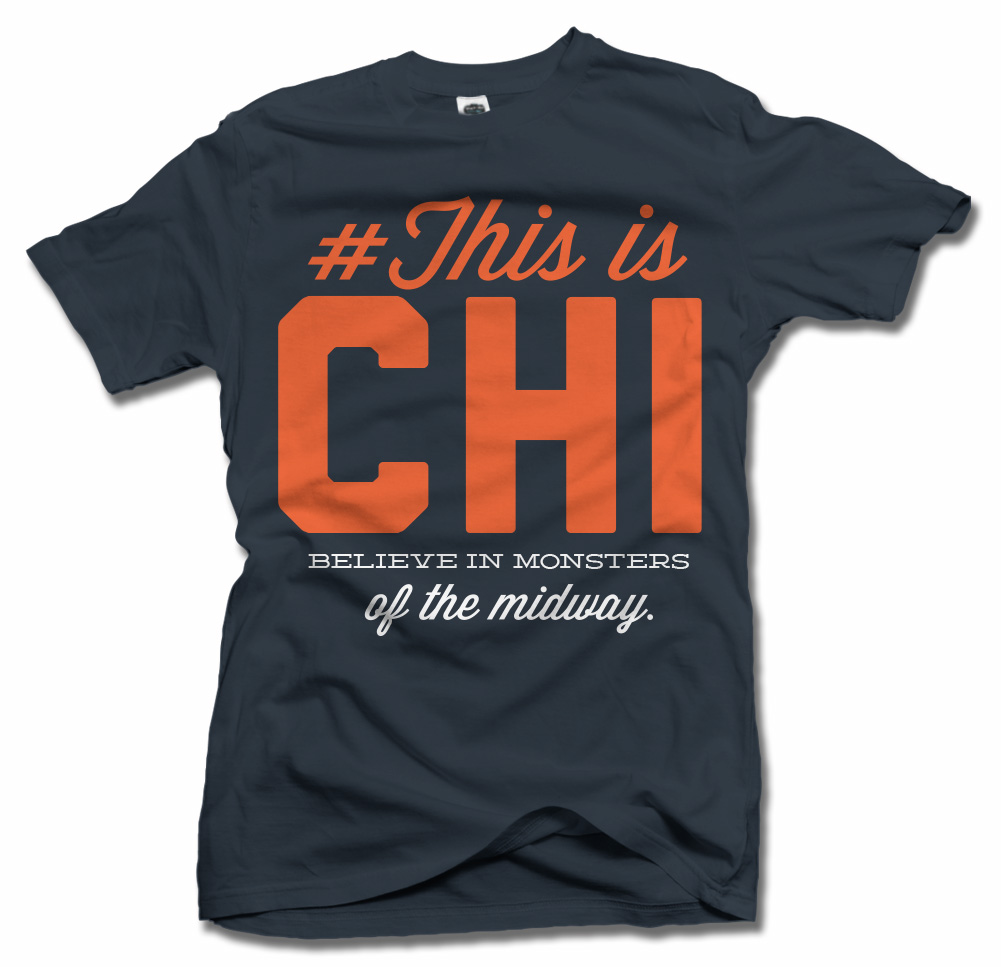 THIS IS CHICAGO FOOTBALL T-SHIRT Model