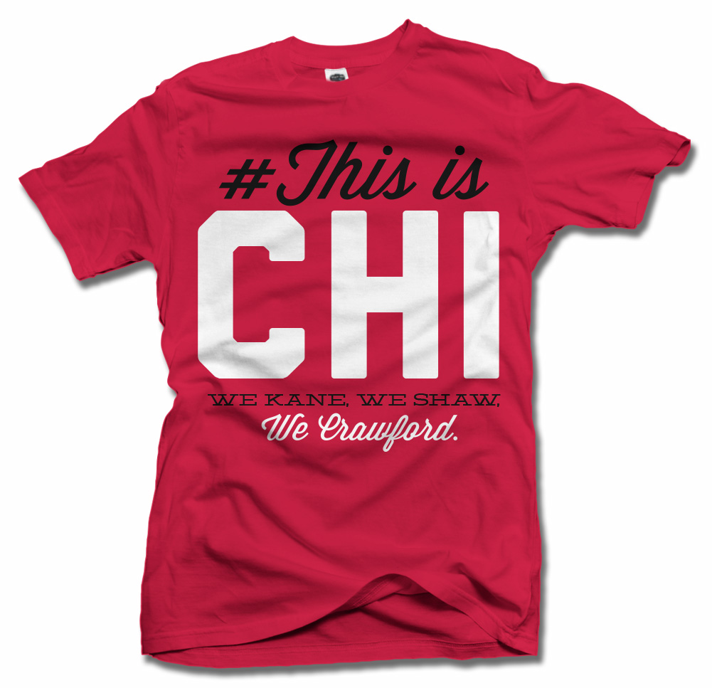 THIS IS CHICAGO HOCKEY T-SHIRT Model