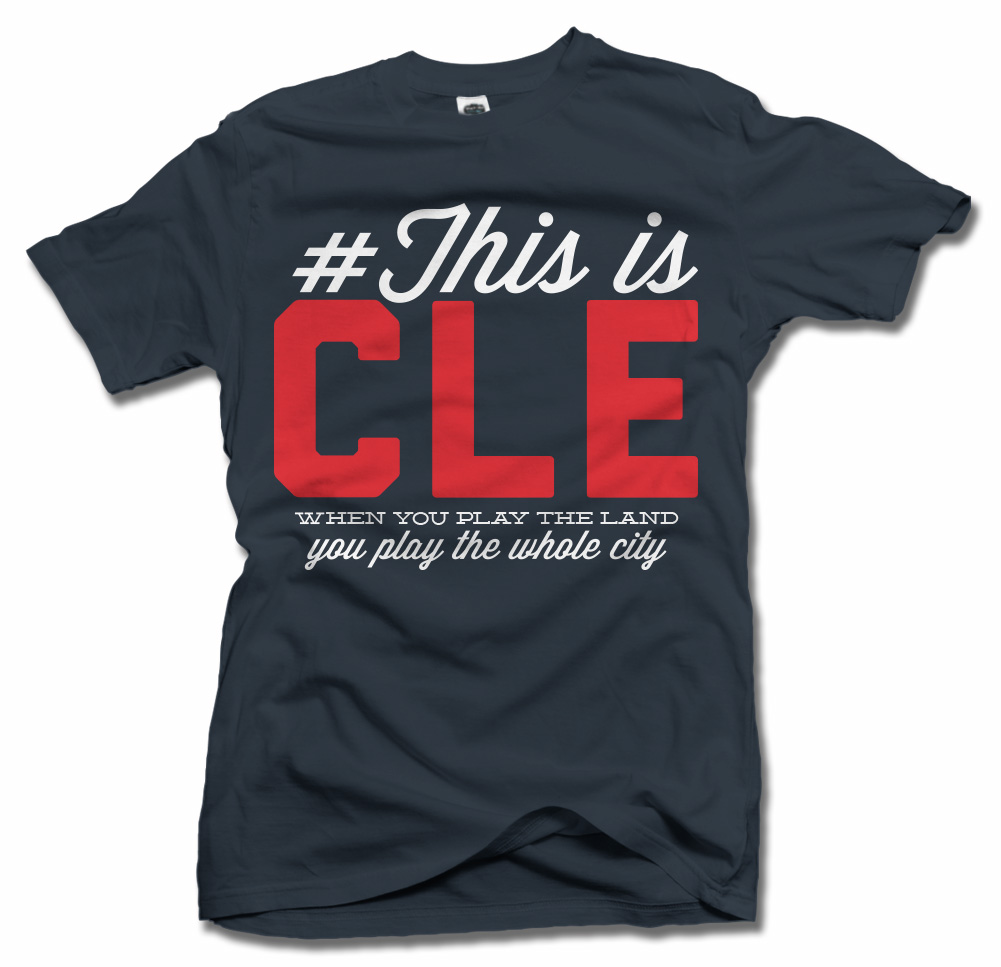 THIS IS CLEVELAND BASEBALL T-SHIRT Model