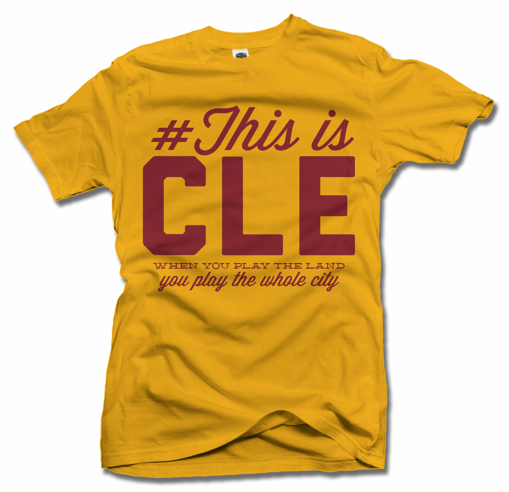 THIS IS CLEVELAND BASKETBALL T-SHIRT Model