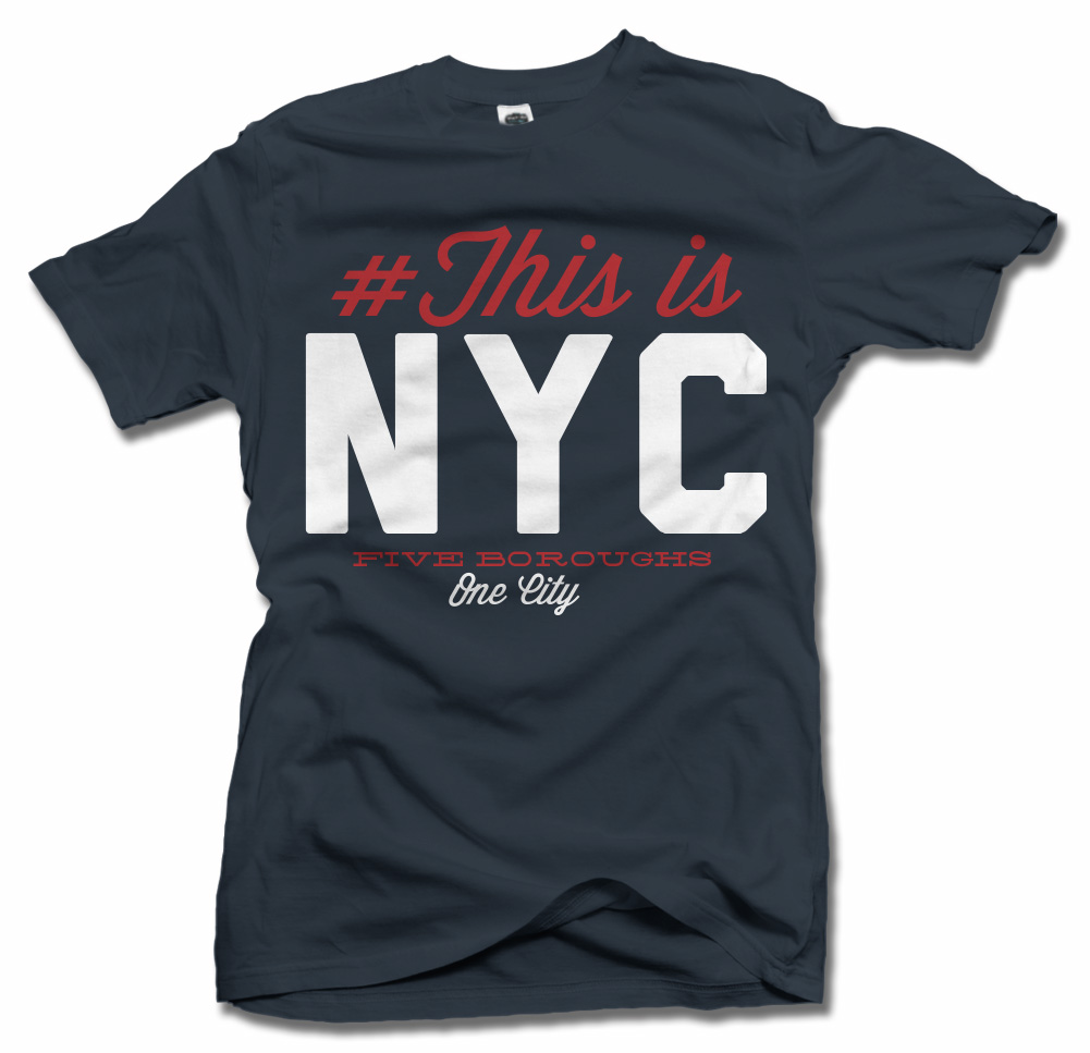 THIS IS NEW YORK CITY FOOTBALL T-SHIRT Model