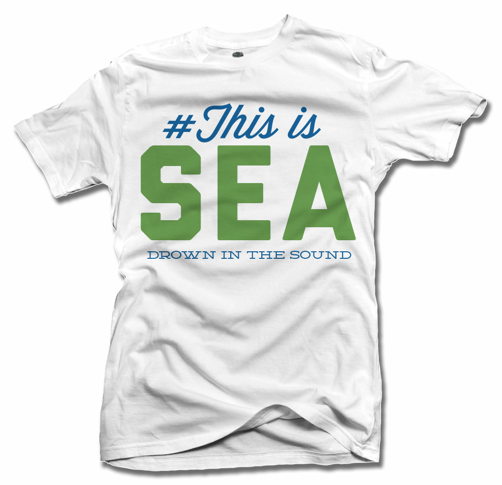 THIS IS SEATTLE SOCCER T-SHIRT Model