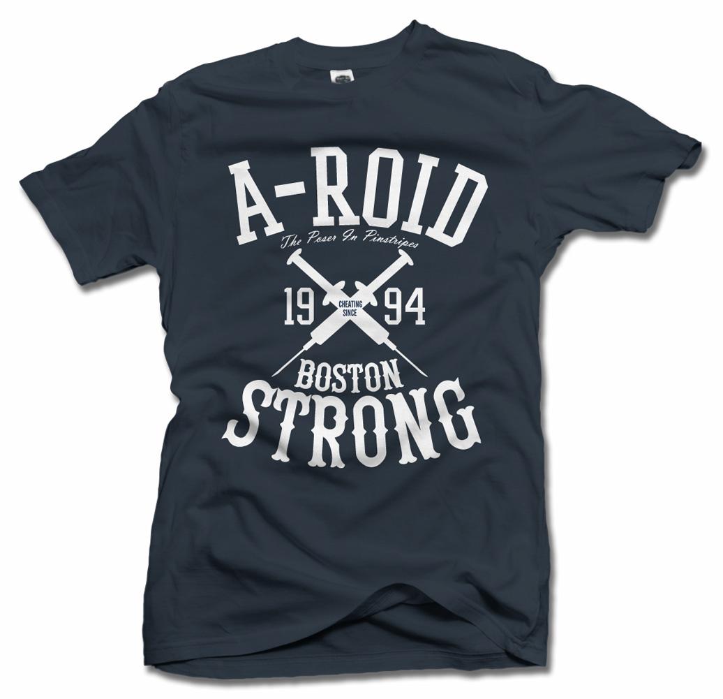 A-ROID BOSTON STRONG FUNNY BASEBALL T-SHIRT Model