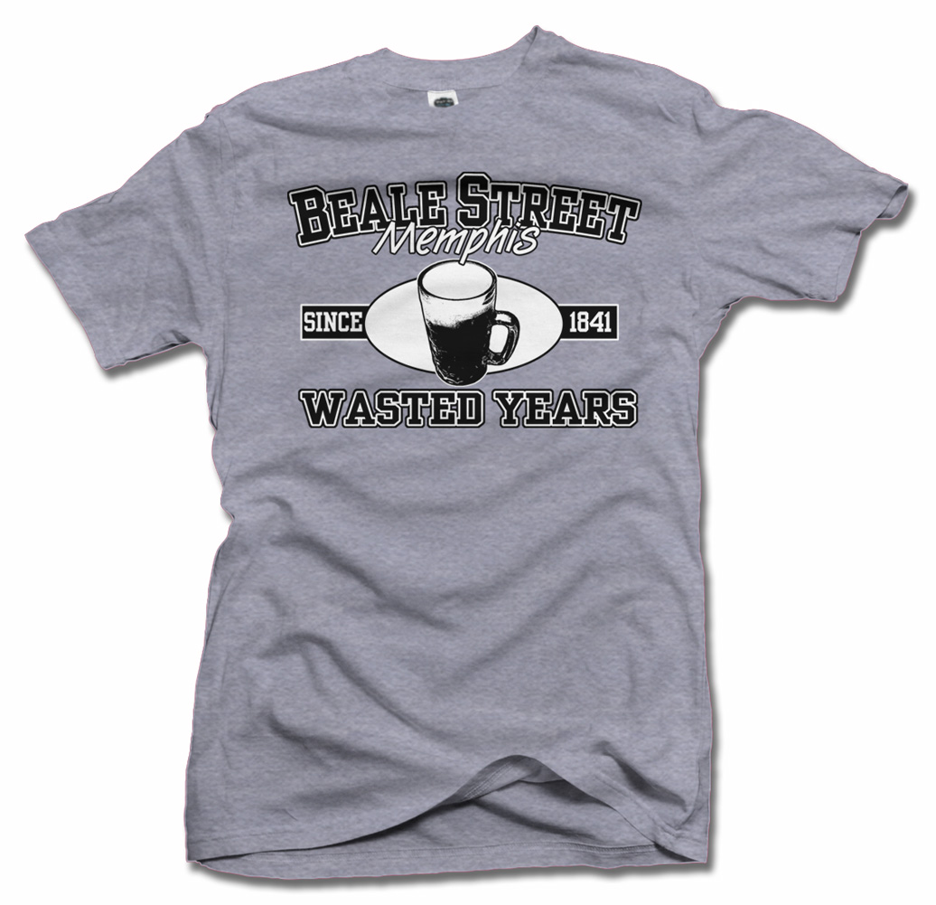 BEALE STREET MEMPHIS WASTED YEARS BEALE T-SHIRT Model