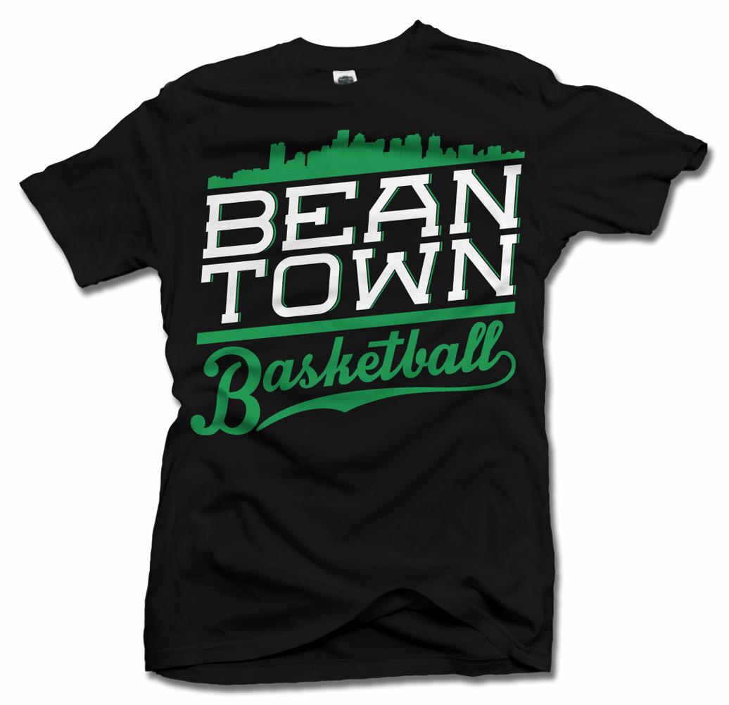 BEAN TOWN BASKETBALL COOL BOSTON T-SHIRT Model
