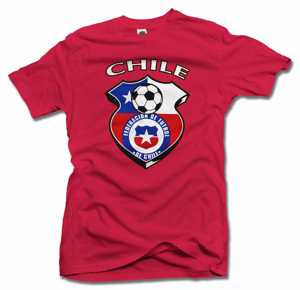 CHILE SHIELD RED FUTBOL T-SHIRT Model