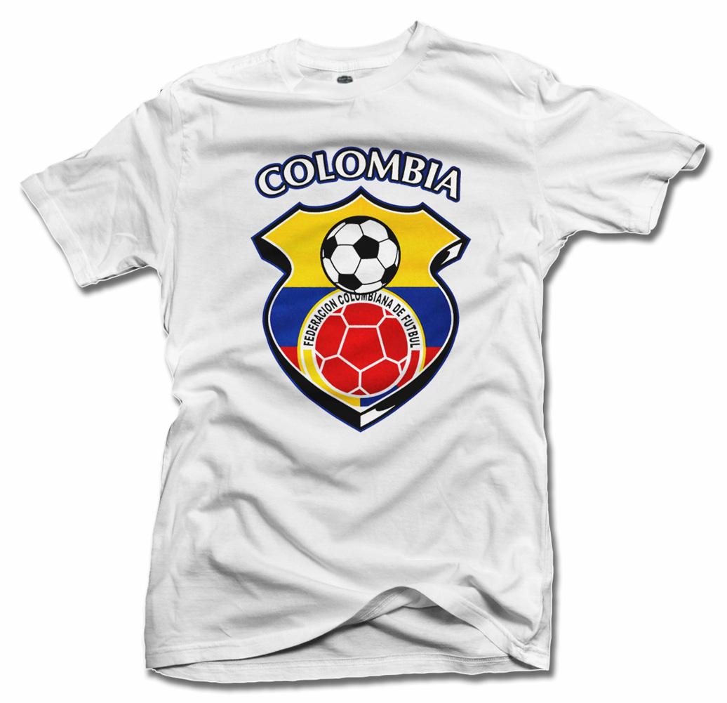 COLUMBIA SHIELD WHITE FUTBOL T-SHIRT Model