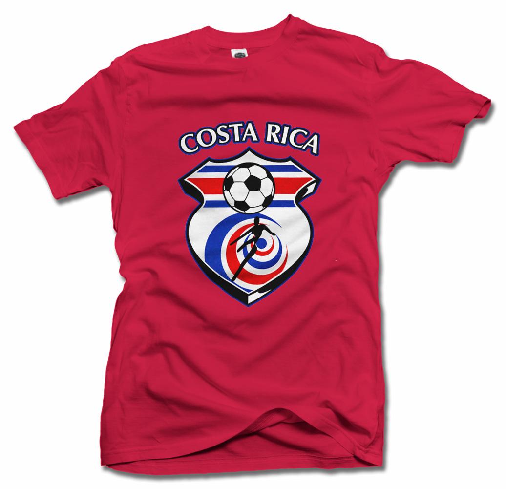 COSTA RICA SHIELD RED FUTBOL T-SHIRT Model