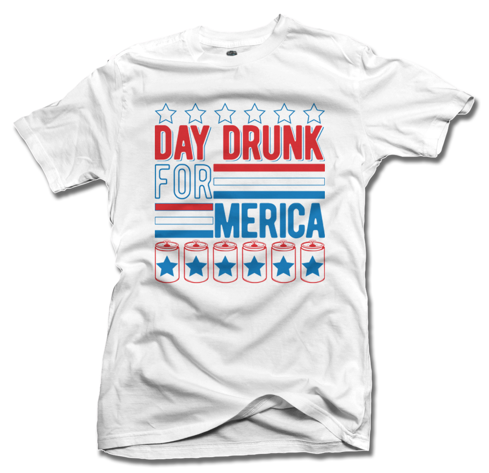 DAY DRUNK FOR MERICA ON LIGHTS Model
