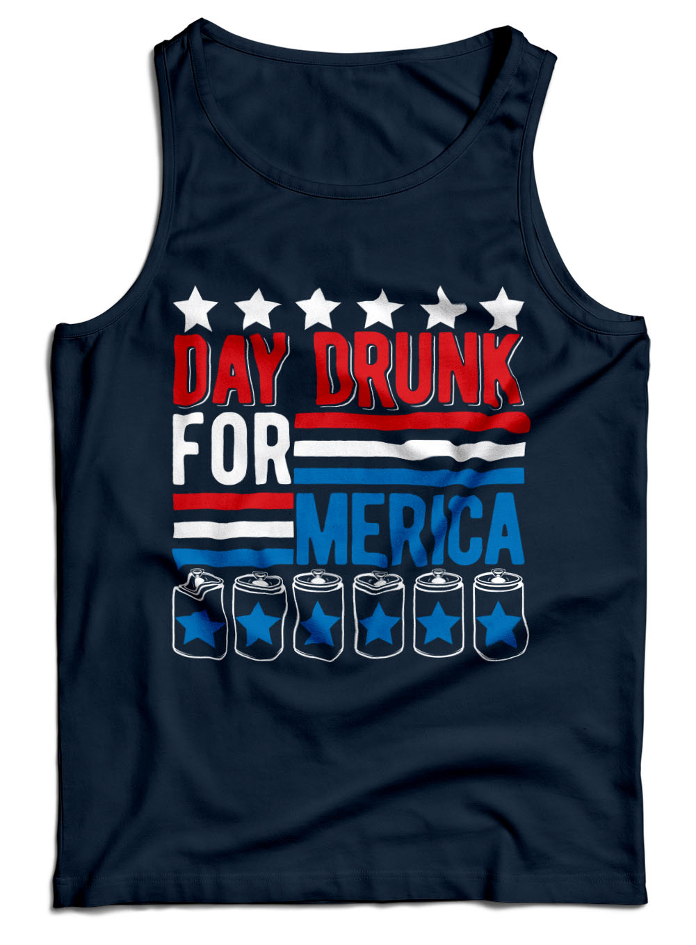 Day Drunk For Merica Funny Patriotic Shirt Model