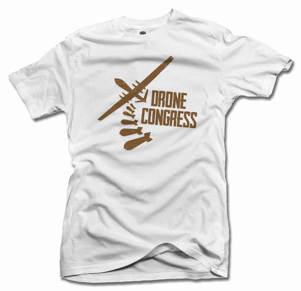 DRONE CONGRESS FUNNY POLITICAL` T-SHIRT Model