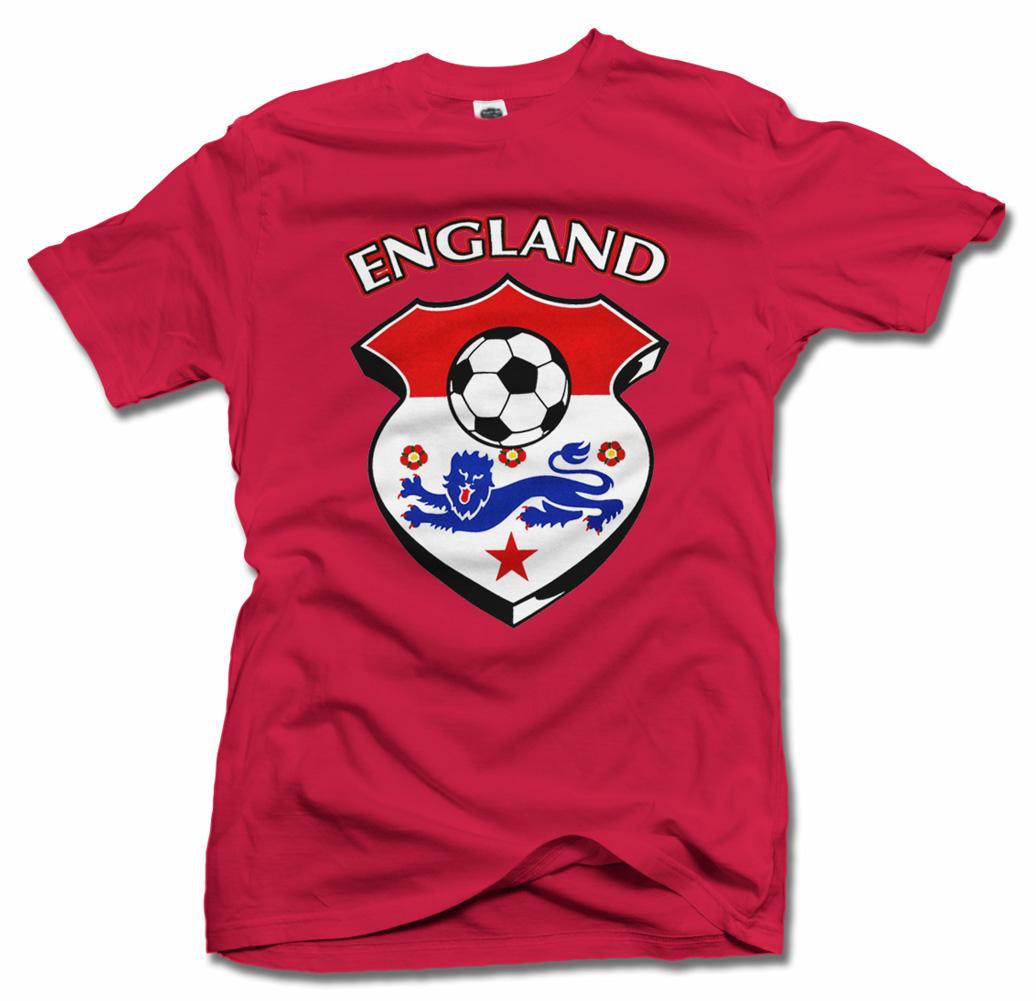 ENGLAND SHIELD RED FOOTBALL T-SHIRT Model