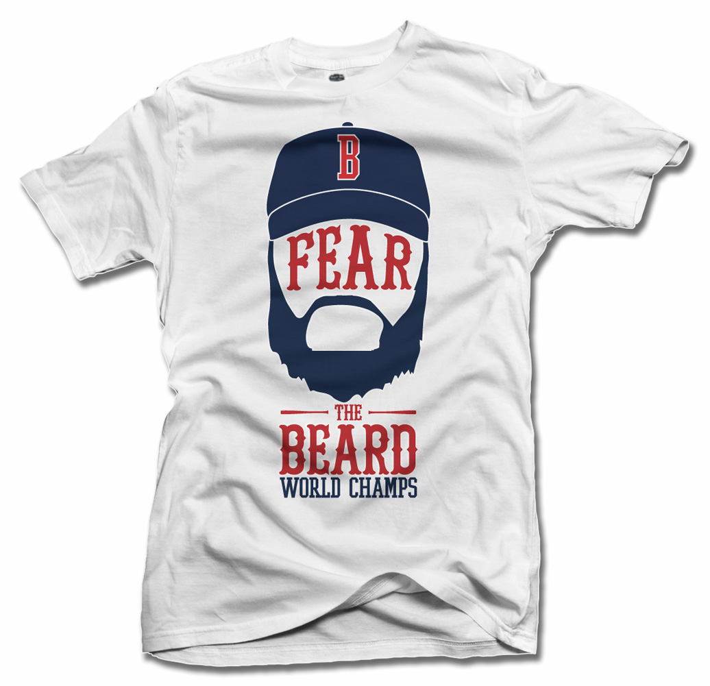 FEAR THE BEARD BOSTON WORLD CHAMPS COOL BASEBALL SHIRT Model