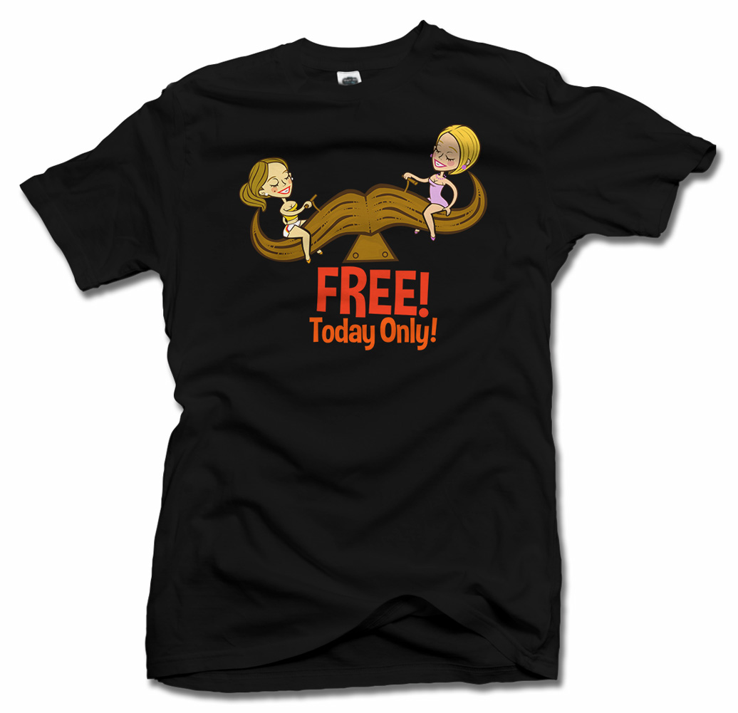 FREE TODAY ONLY MUSTACHE RIDES FUNNY T-SHIRT Model