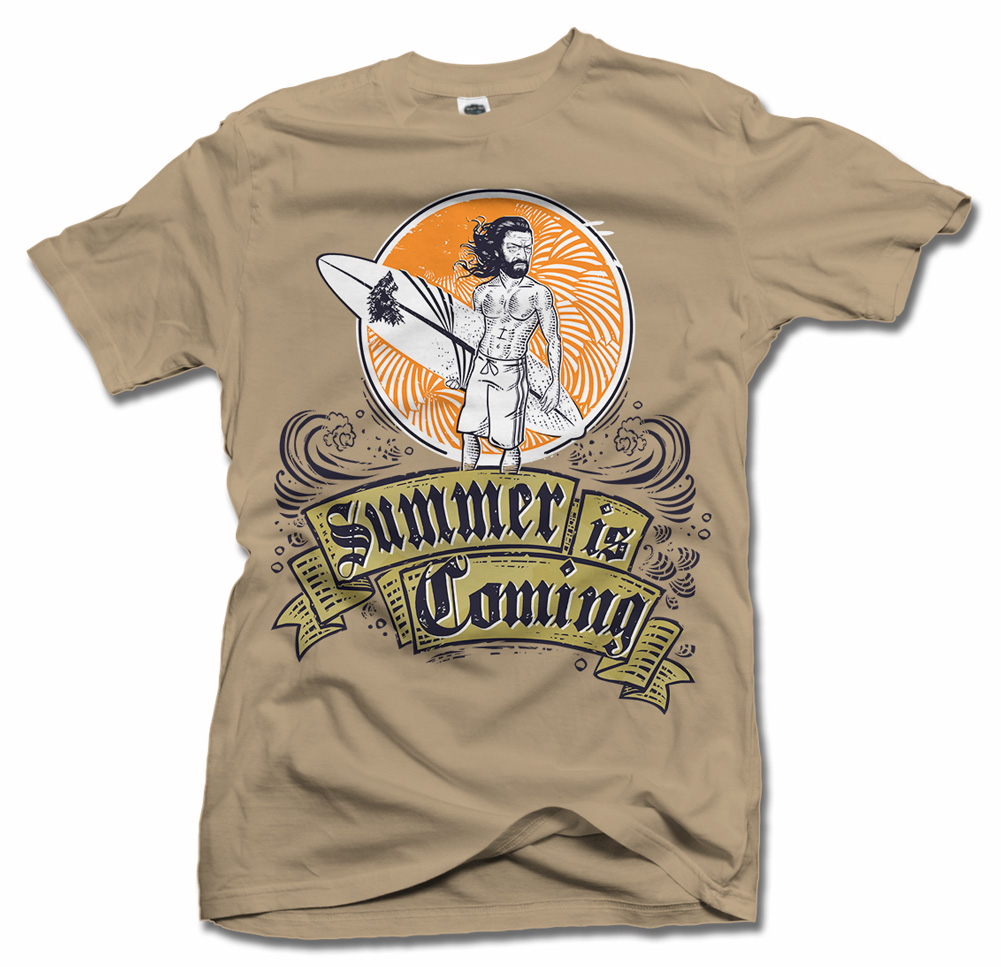 SUMMER IS COMING (GAME OF THRONES) FUNNY T-SHIRT Model