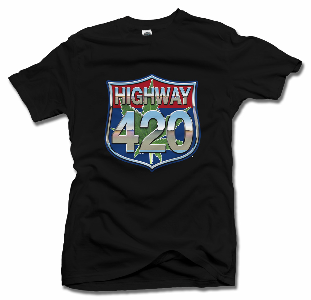 HIGHWAY 420 T-SHIRT Model