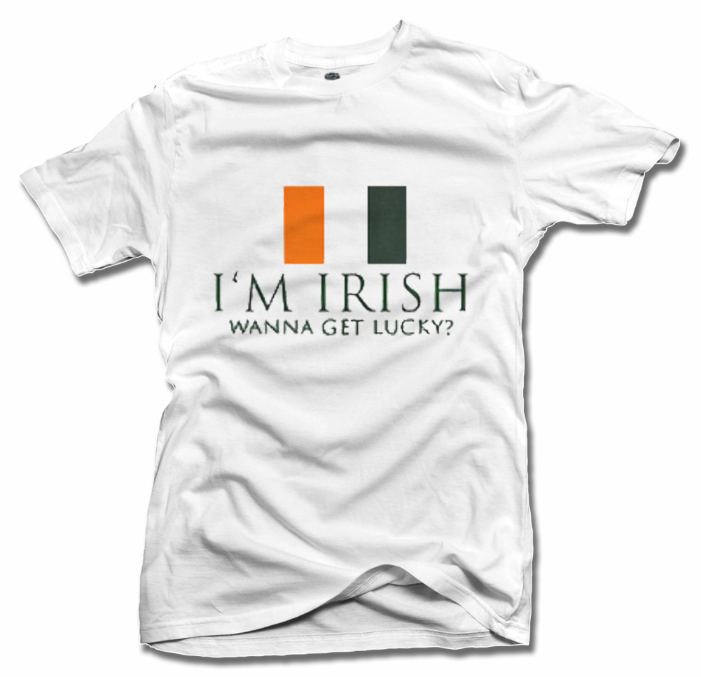 I'M IRISH WANNA GET LUCKY FLAG Model