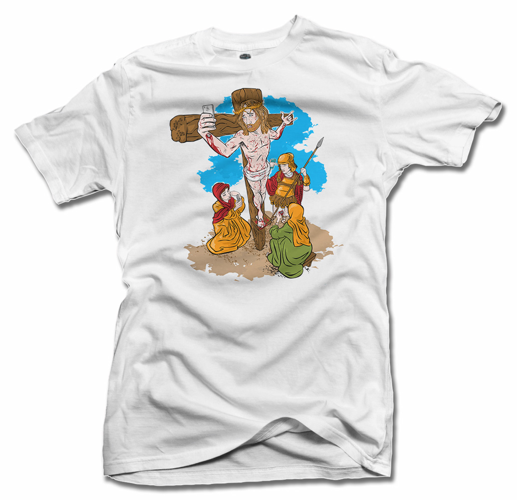 JESUS SELFIE T-SHIRT Model