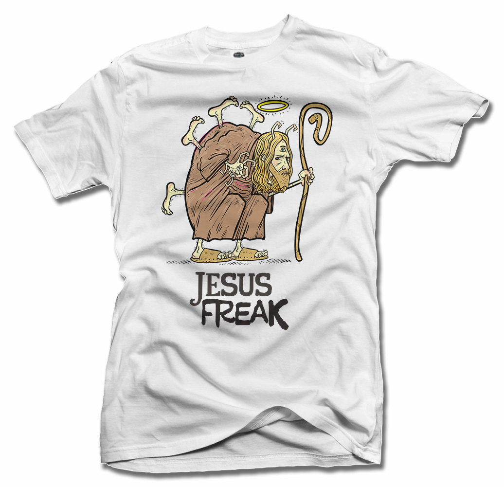 JESUS FREAK FUNNY T-SHIRT Model