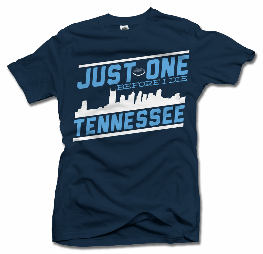 JUST ONE BEFORE I DIE TENNESSEE FOOTBALL T-SHIRT Model