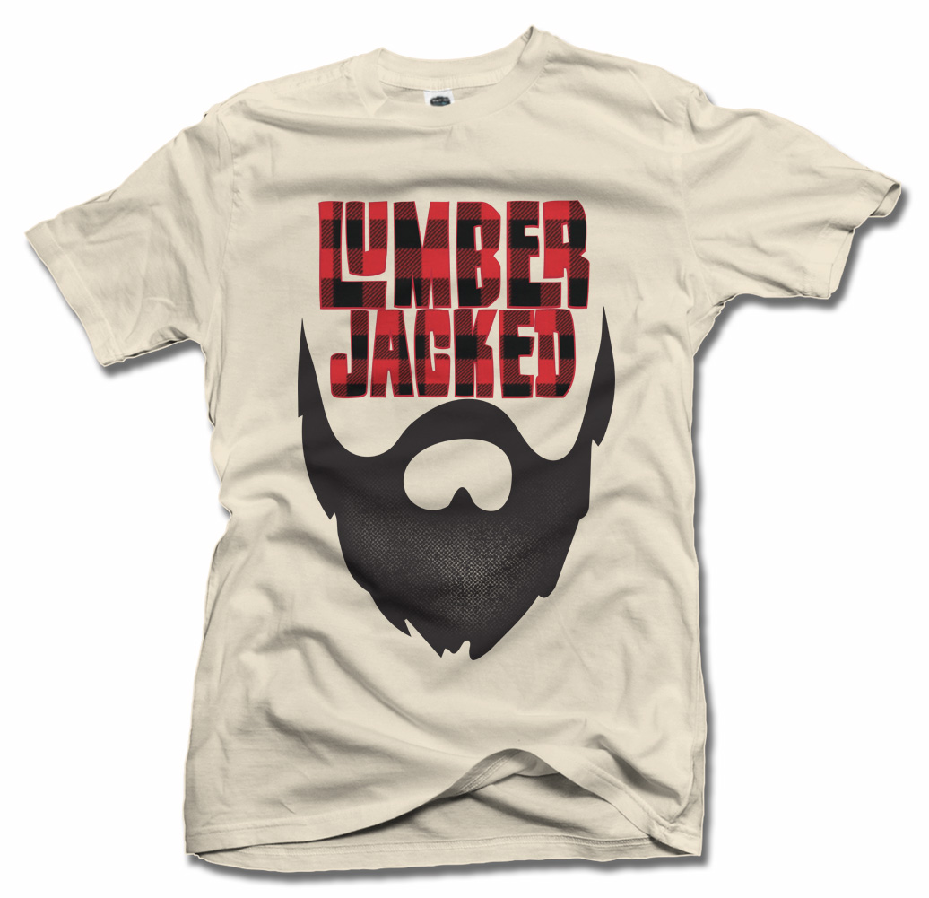 LUMBER JACKED COOL BEARD T-SHIRT Model