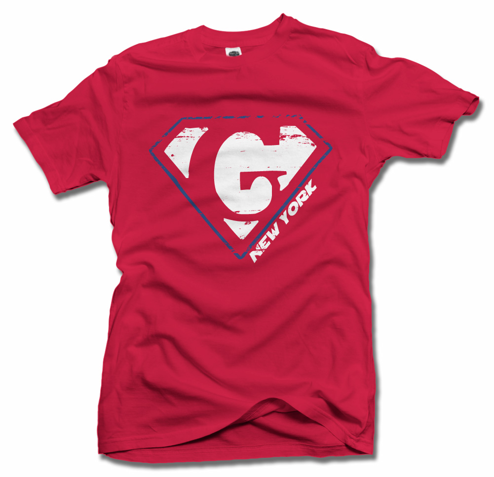 NEW YORK FOOTBALL HERO ON RED G Model
