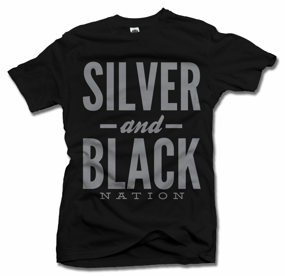 SILVER AND BLACK NATION FOOTBALL TEXT Model
