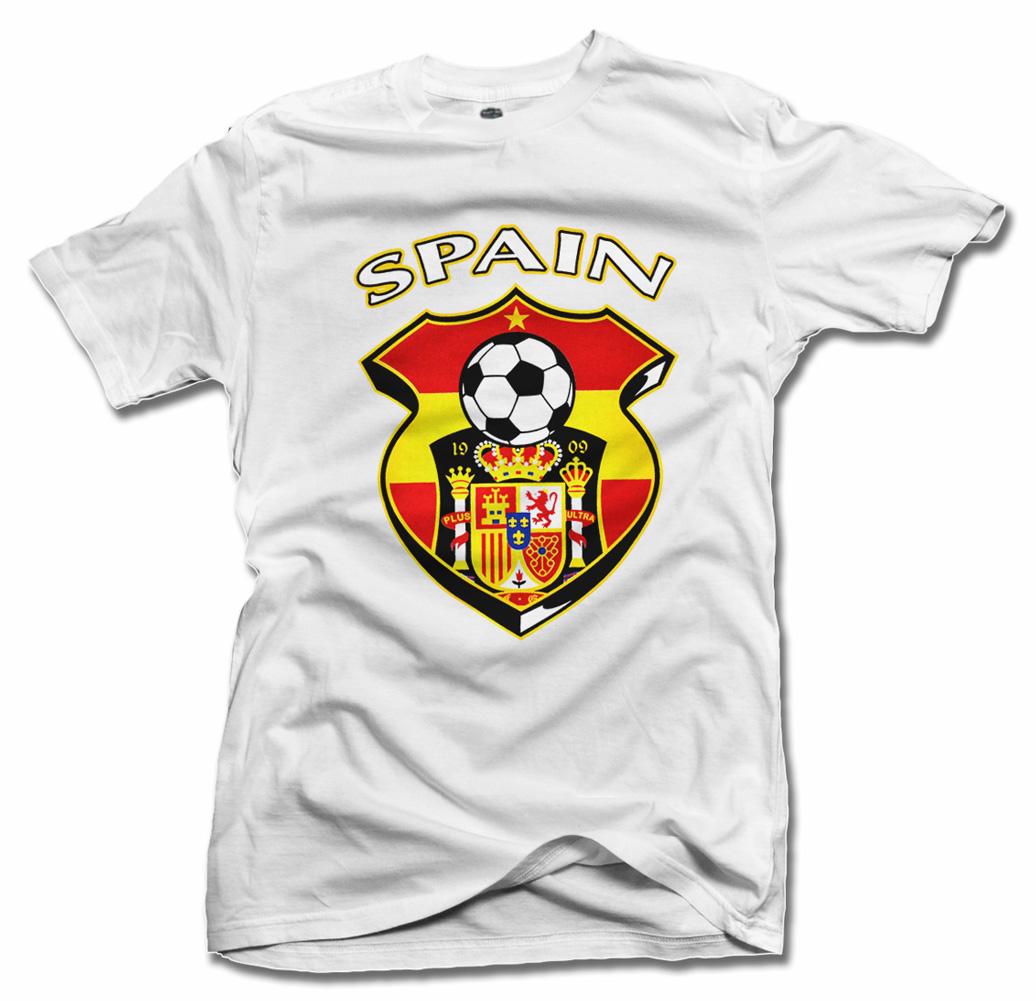 SPAIN SHIELD WHITE FUTBOL T-SHIRT Model