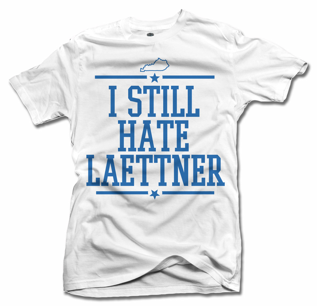 I STILL HATE LAETTNER FUNNY KENTUCKY BASKETBALL T-SHIRT Model