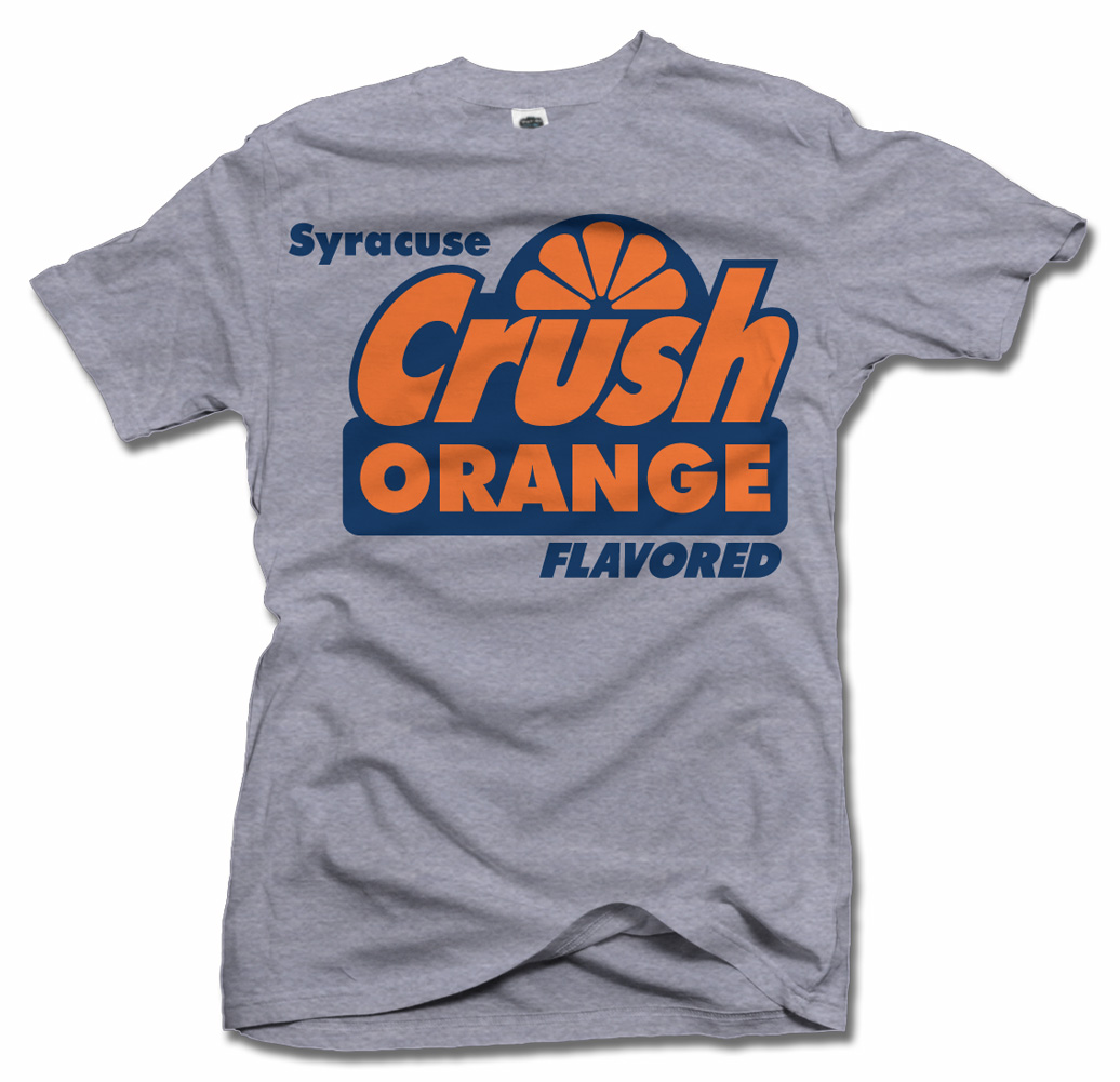 SYRACUSE CRUSH ORANGE FLAVORED SYRACUSE BASKETBALL T-SHIRT Model